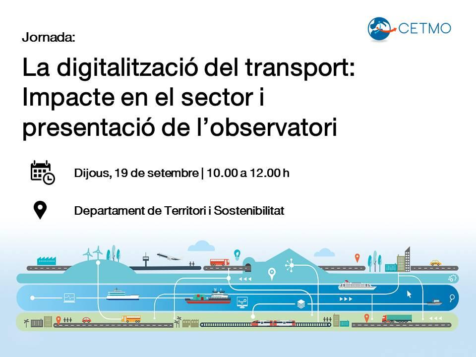CENIT participarà a la jornada sobre la digitalització del transport